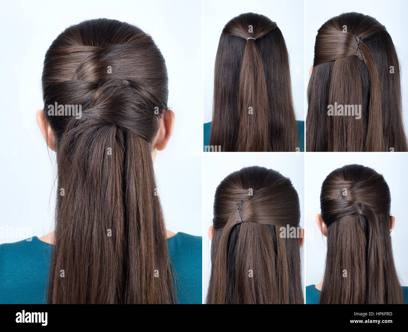 Simple Half Up Hairstyle With Pins Tutorial Step By Step