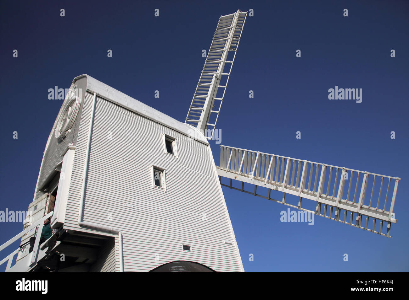 jack and jill windmills at clayton on the sussex downs - Stock Image