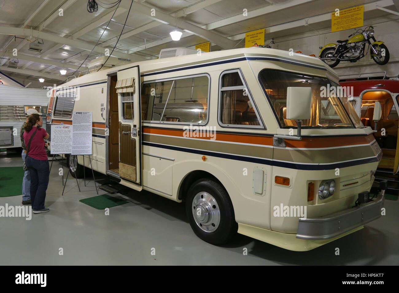 1976 FMC Motorhome at Jack Sisemore Traveland RV Museum - Stock Image