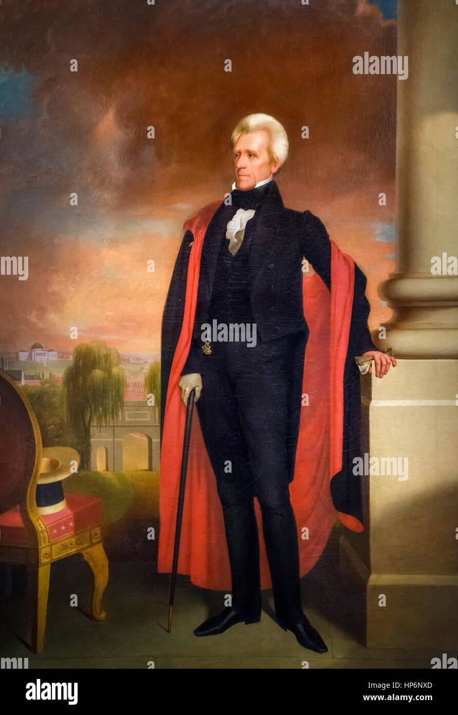 Andrew Jackson (1767-1845), portrait of the 7th president of the United States,  by Ralph E W Earl,oil on canvas, - Stock Image