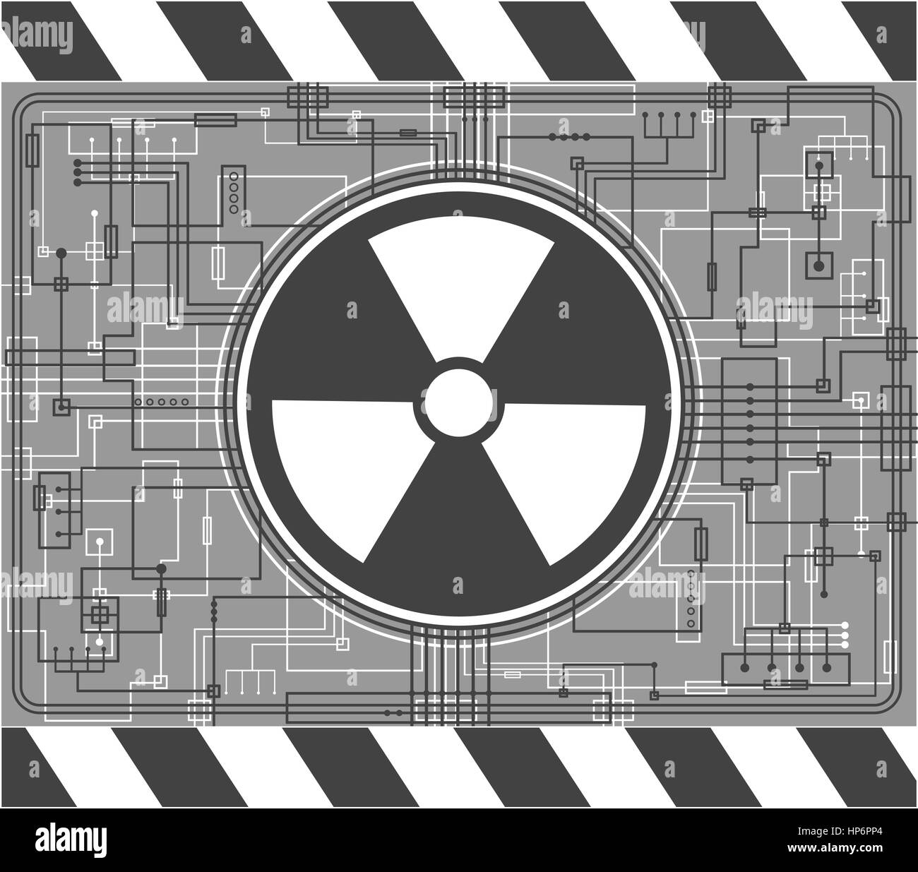 Nuclear background - Stock Vector