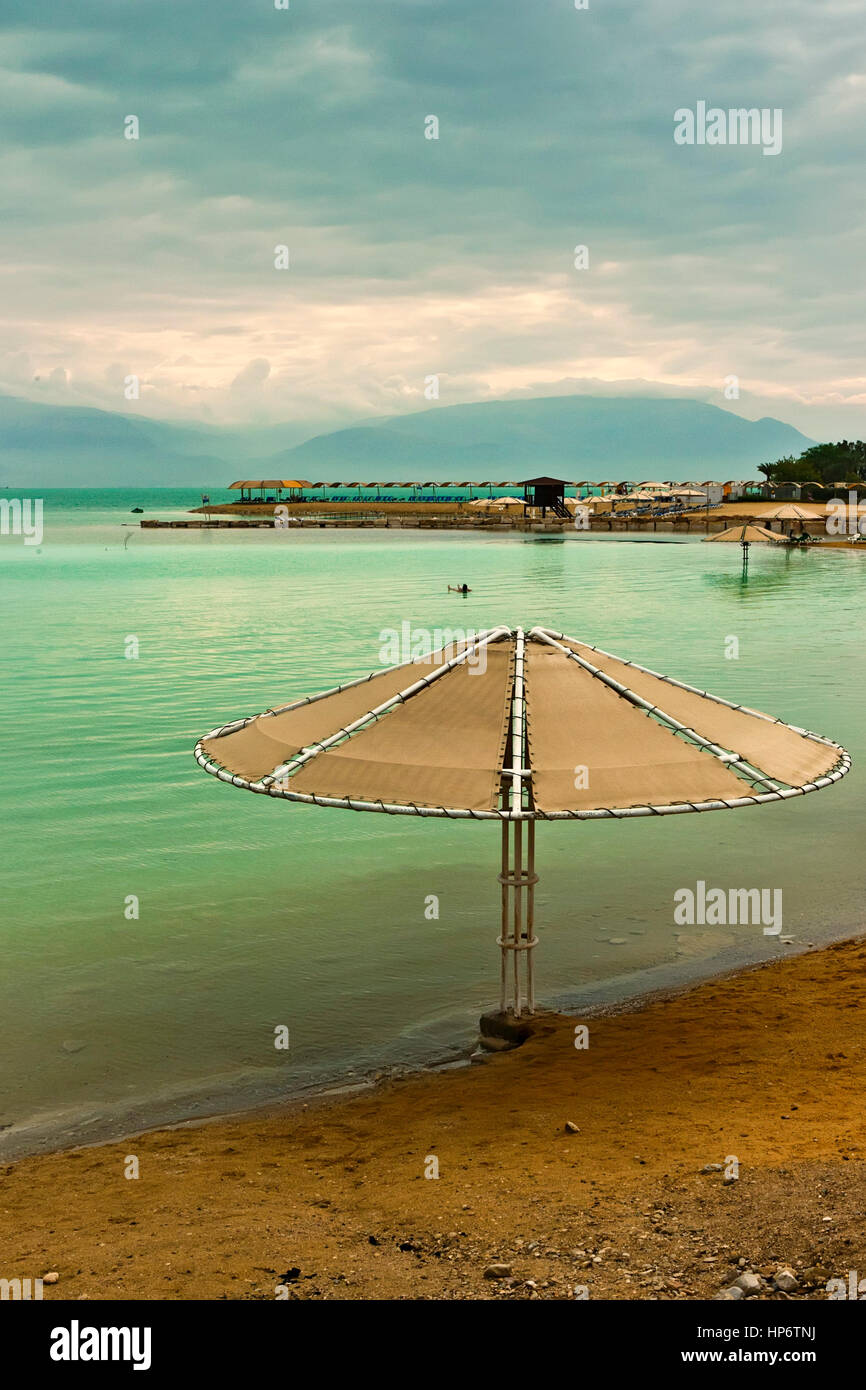 Scenic view of Dead sea - Stock Image