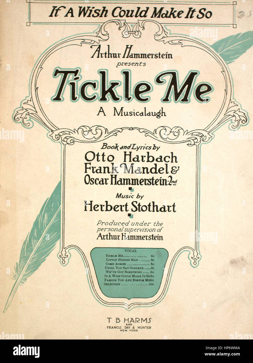 Sheet music cover image of the song 'If a Wish Could Make it So