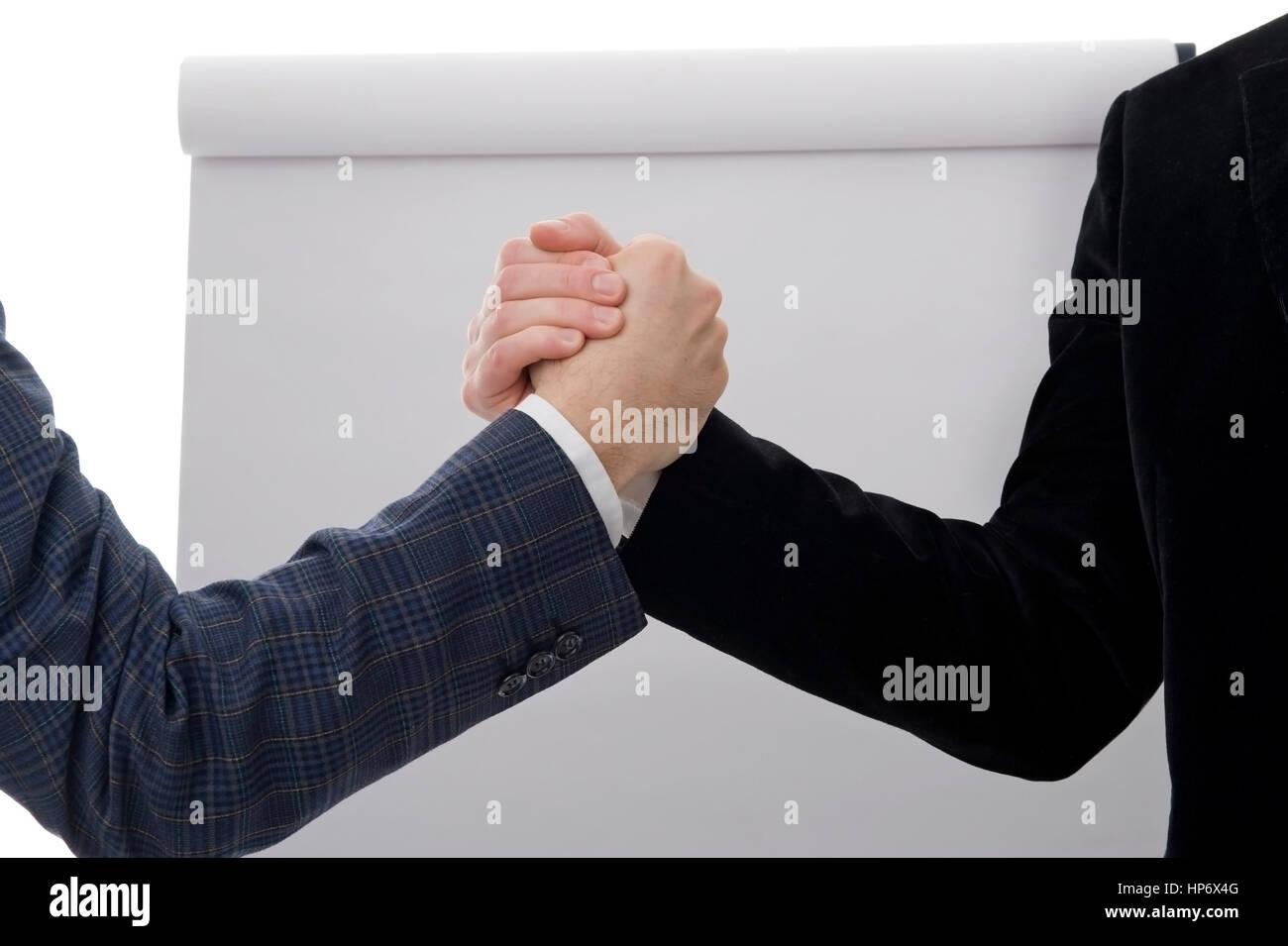 Geschaeftspartner - business partner - Stock Image