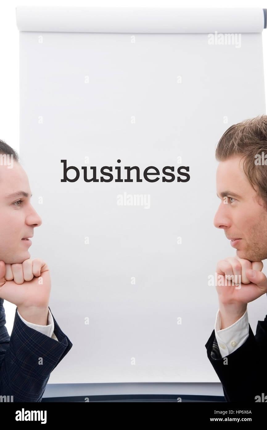 Symbolbild Businesspartner - business partner - Stock Image