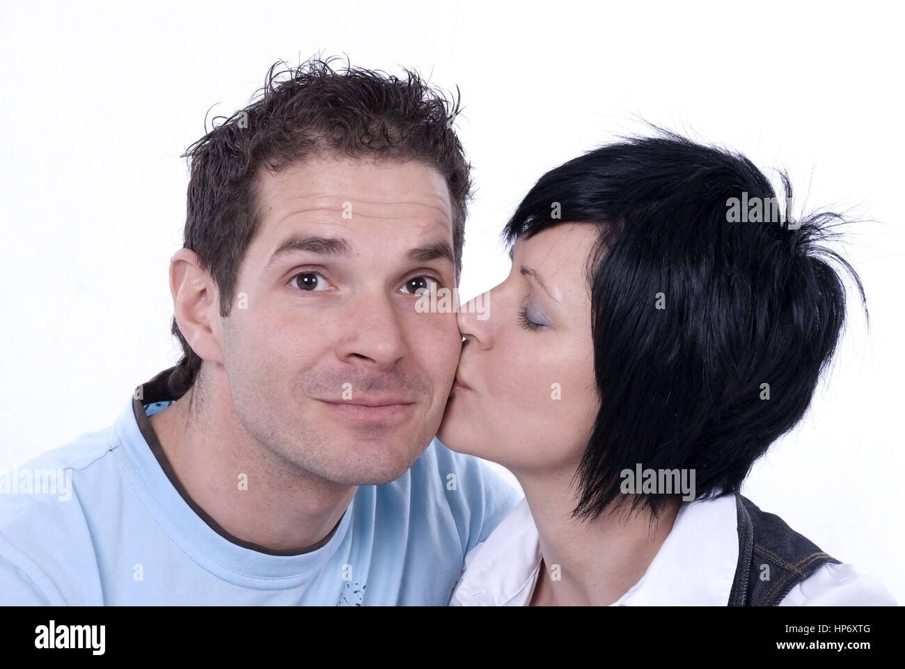 Model released , Liebespaar, 30+ - love couple - Stock Image
