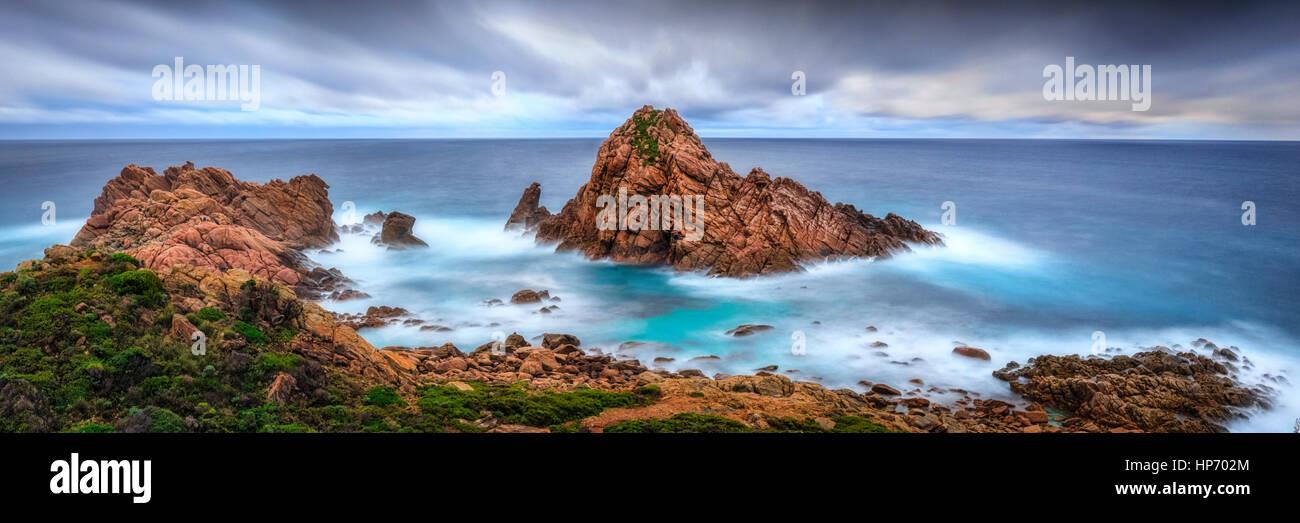 Panorama of Sugarloaf Rock, Western Australia - Stock Image