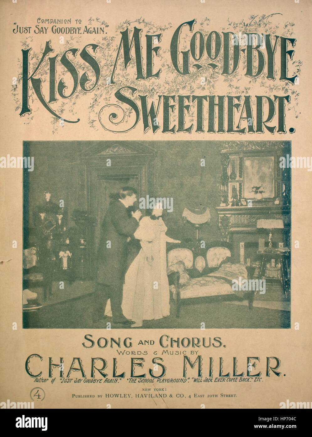 Sheet music cover image of the song 'Kiss Me Good-bye