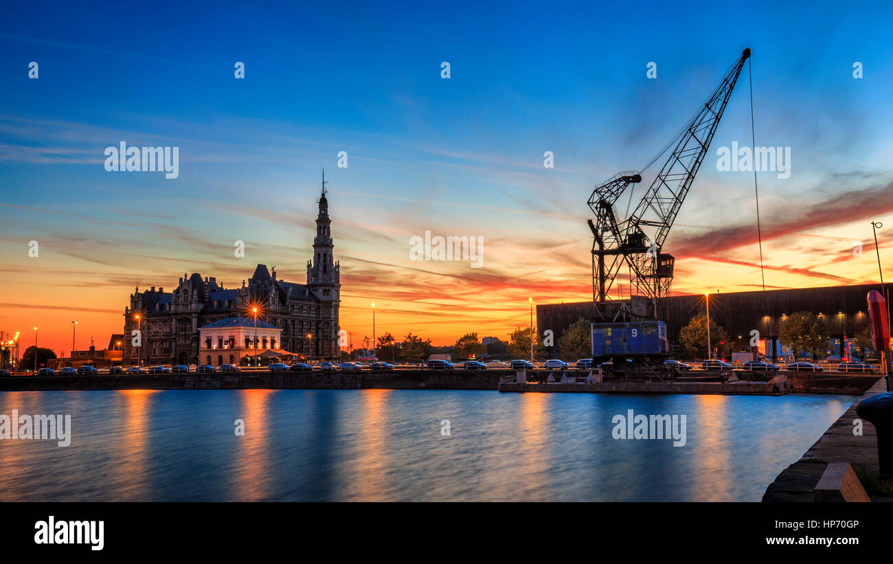 Port of Antwerp, Belgium - Stock Image