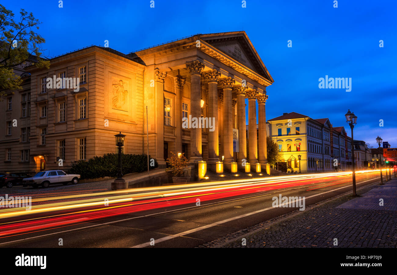 The Theatre Building in Meiningen, Germany - Stock Image