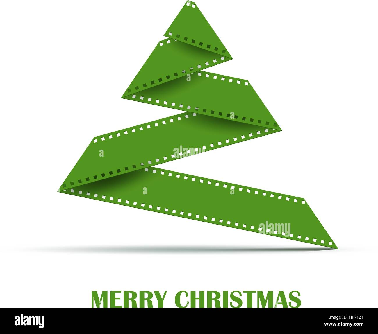 Abstract Stylizes Christmas Tree Made From Film Strip Design Stock