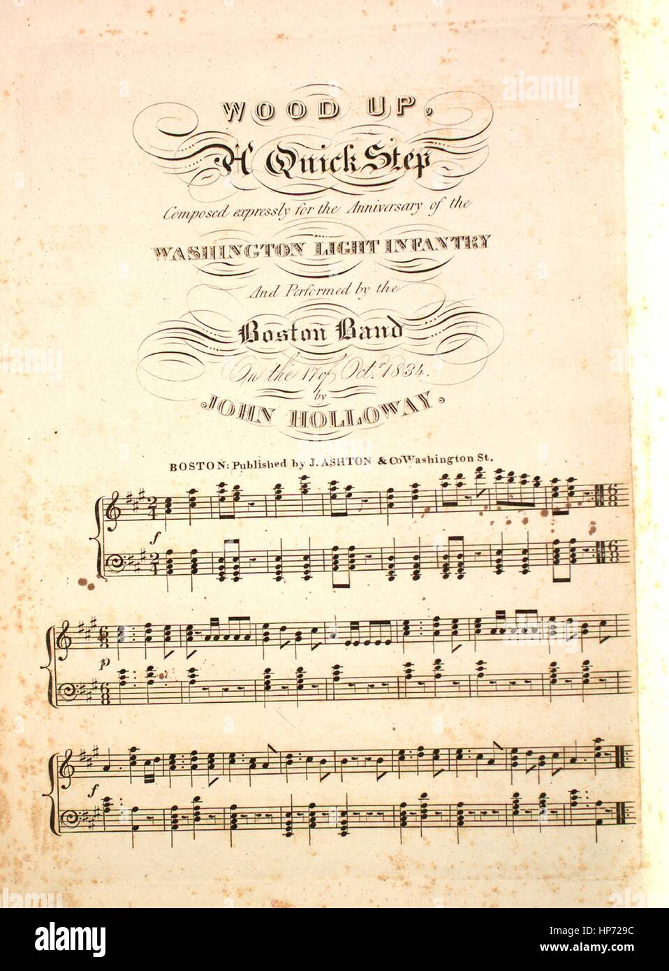 Sheet music cover image of the song 'Wood Up A Quick Step', with