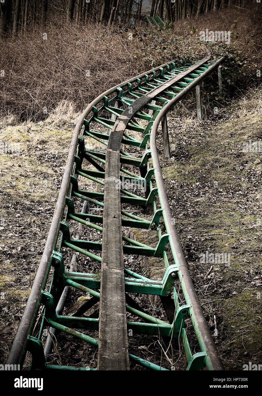 Abandoned Theme Park Ride Stock Photo Alamy