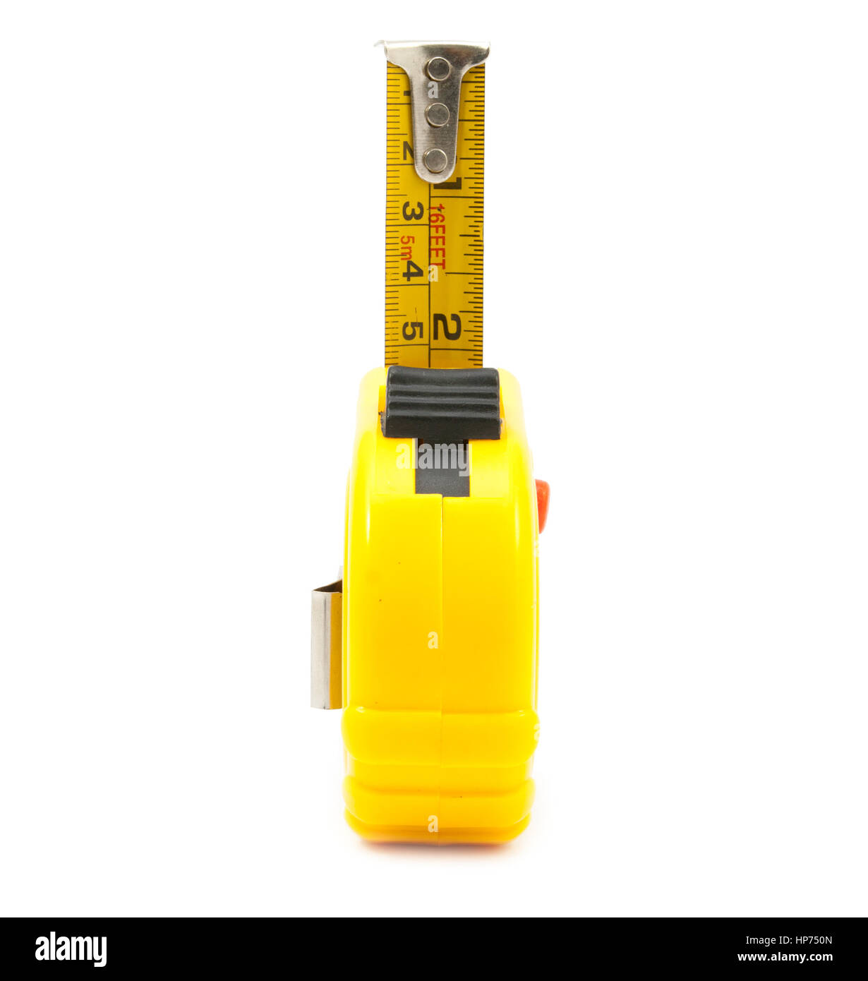 Yellow cartridge meter isolated on white background - Stock Image