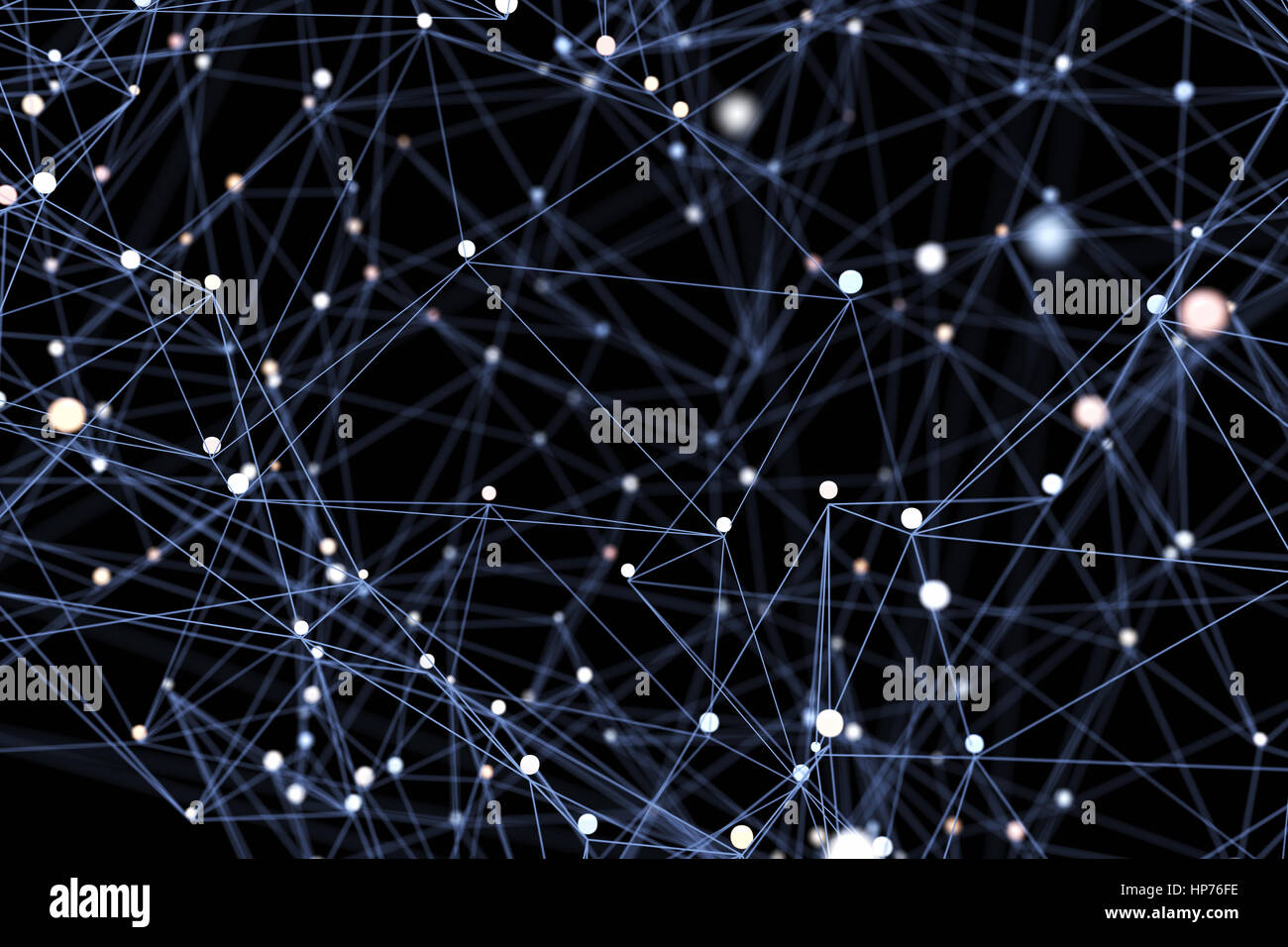 Abstract network background. 3D illustration - Stock Image