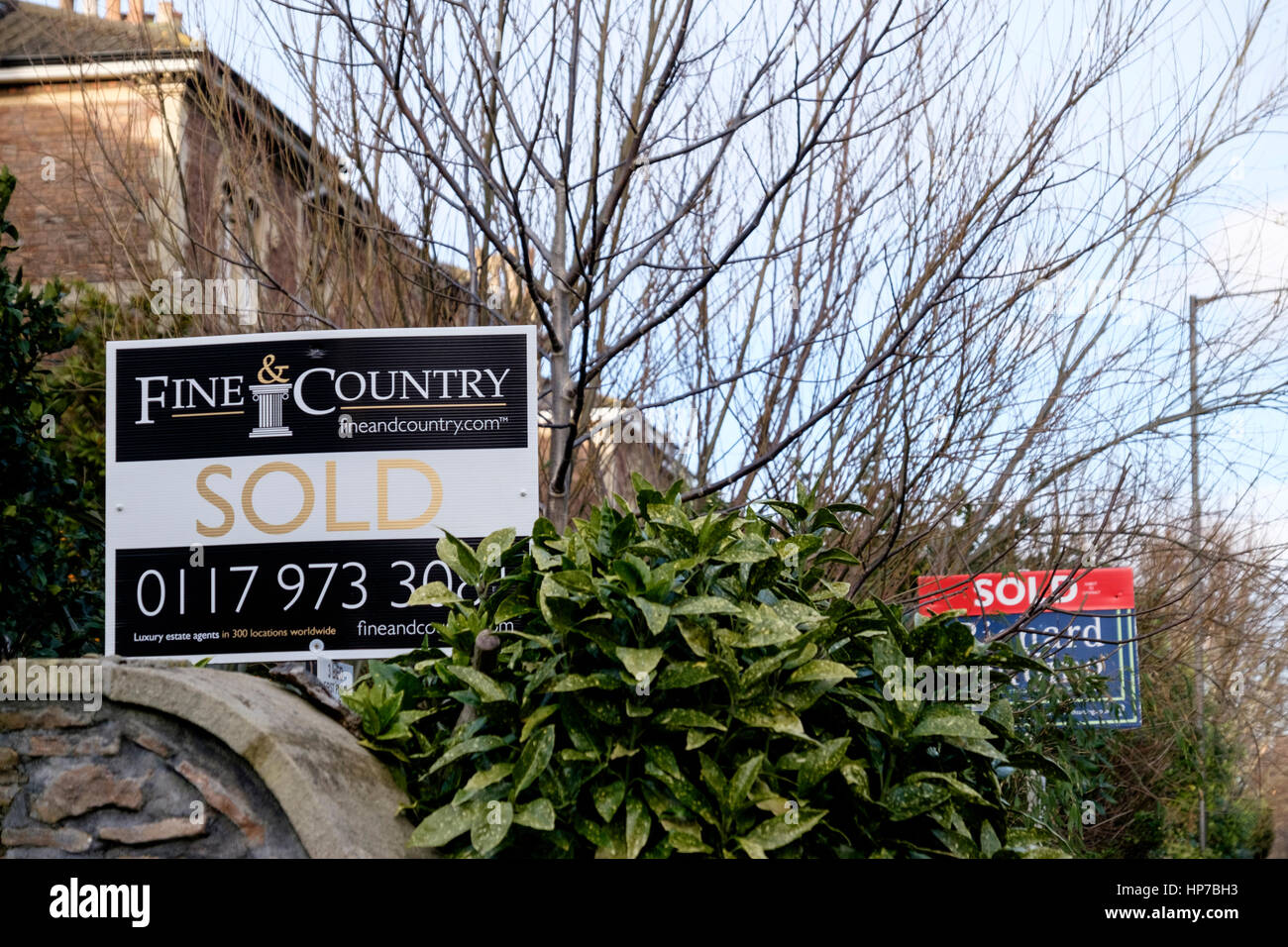 House for sale Signs - Stock Image