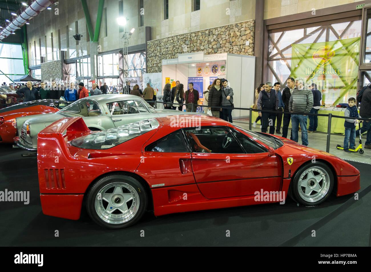 Ferrari F40 at Retro Málaga 2017 - Stock Image