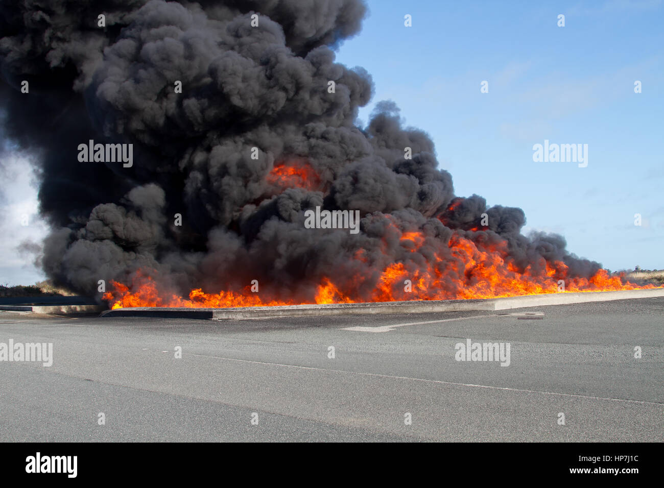Aviation Fuel Fire - Stock Image