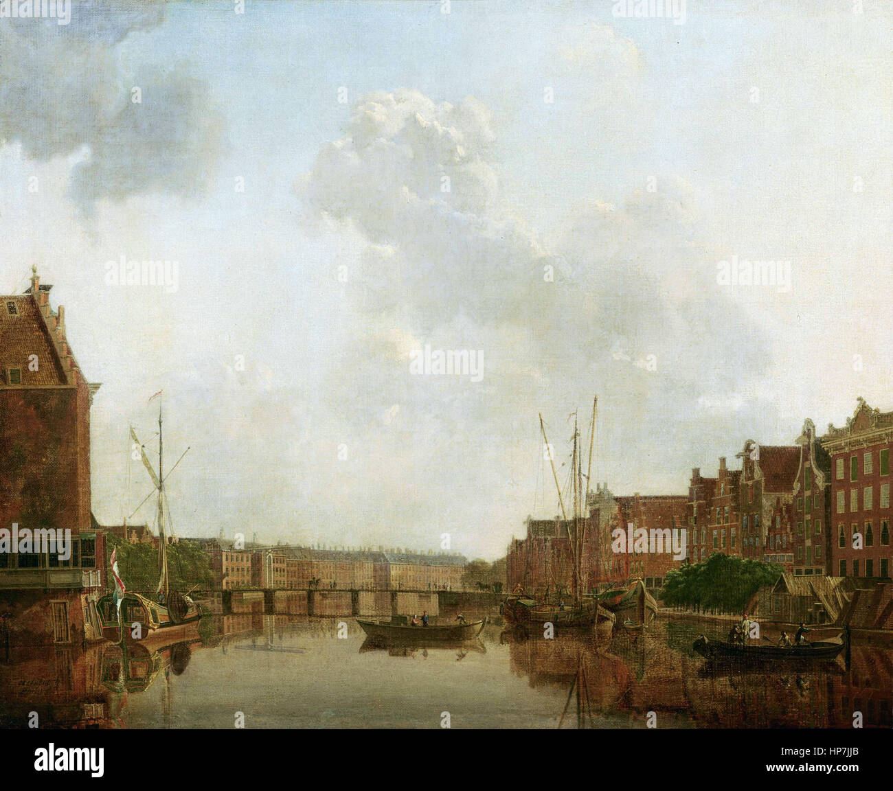 Gerrit Toorenburgh   View of the River Amstel in Amsterdam   - Mauritshuis Museum The Hague Stock Photo