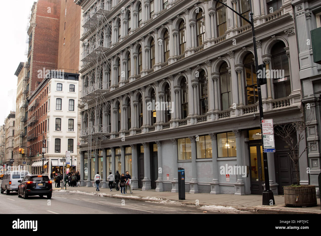 The landmarked E.V. Haughwout Building at the corner of Broome Street and Broadway in Manhattan dates from 1857. - Stock Image