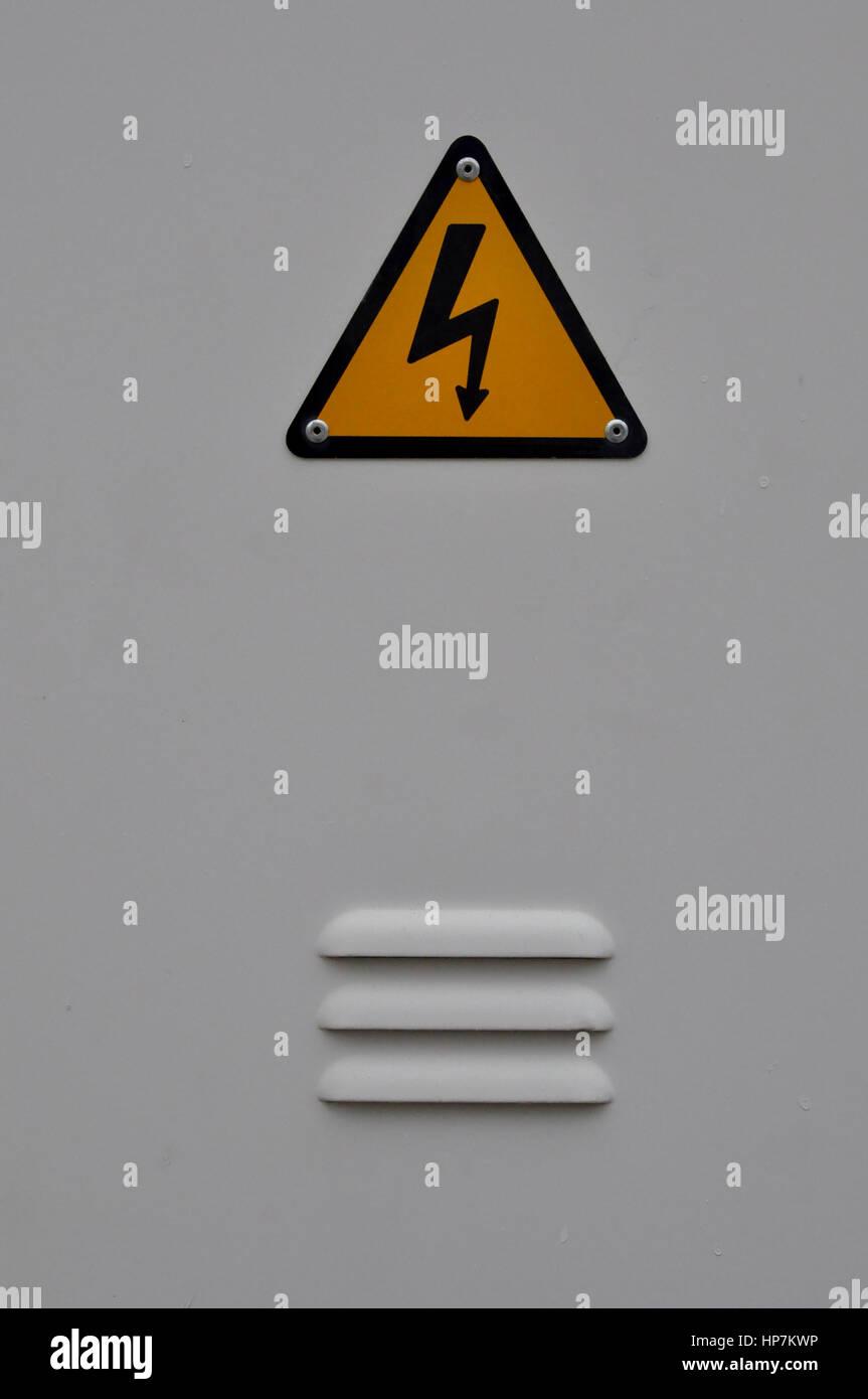 Electrical Shock Hazard Symbol Vector Stock Photos Electrical