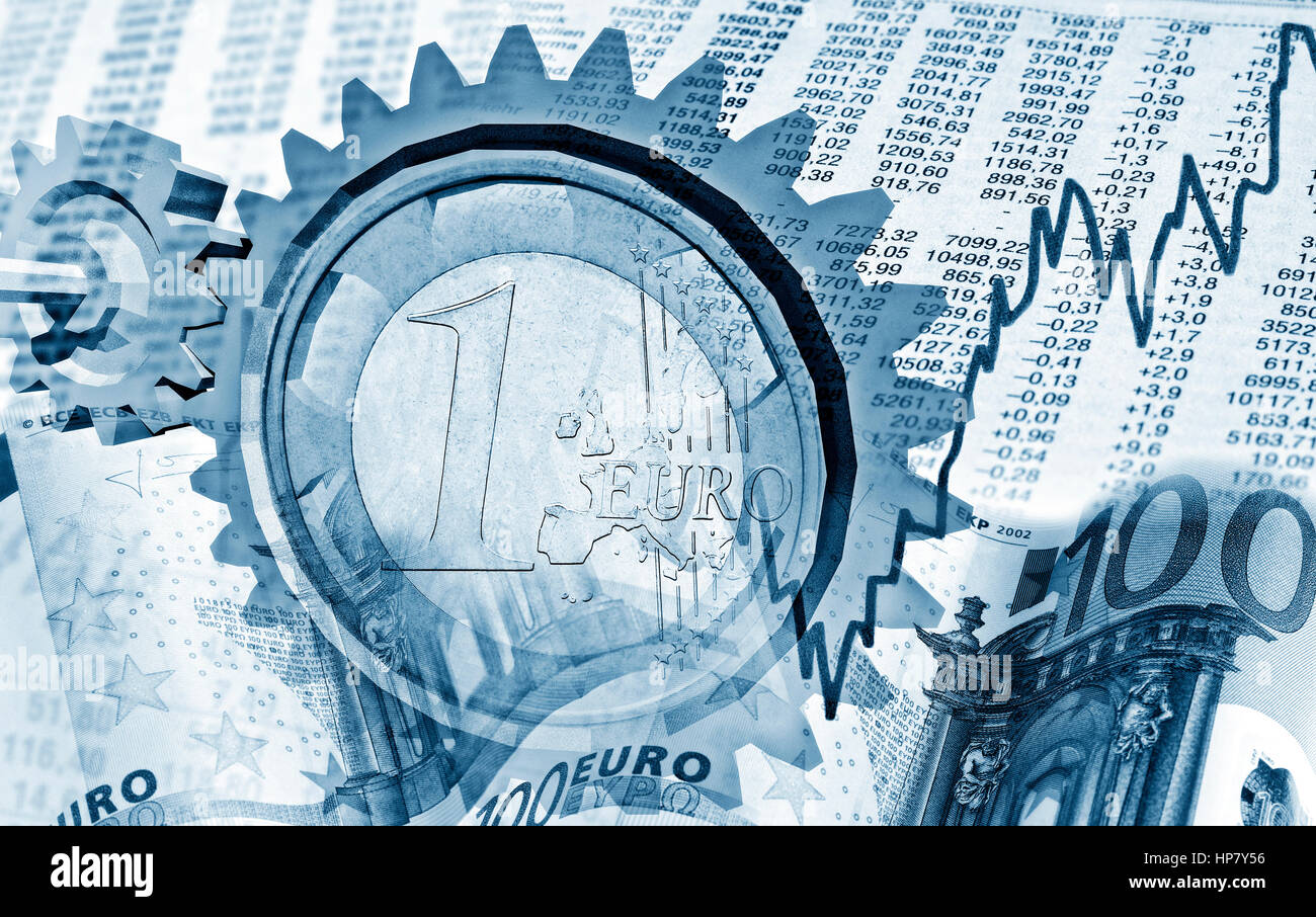 Influence of financial markets on the economy - Stock Image