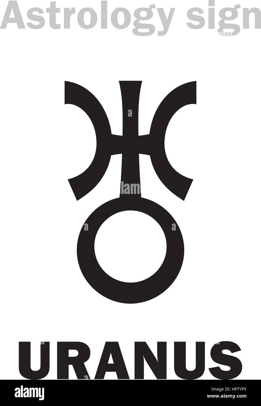 Astrology Alphabet Uranus Higher Global Planet Hieroglyphics