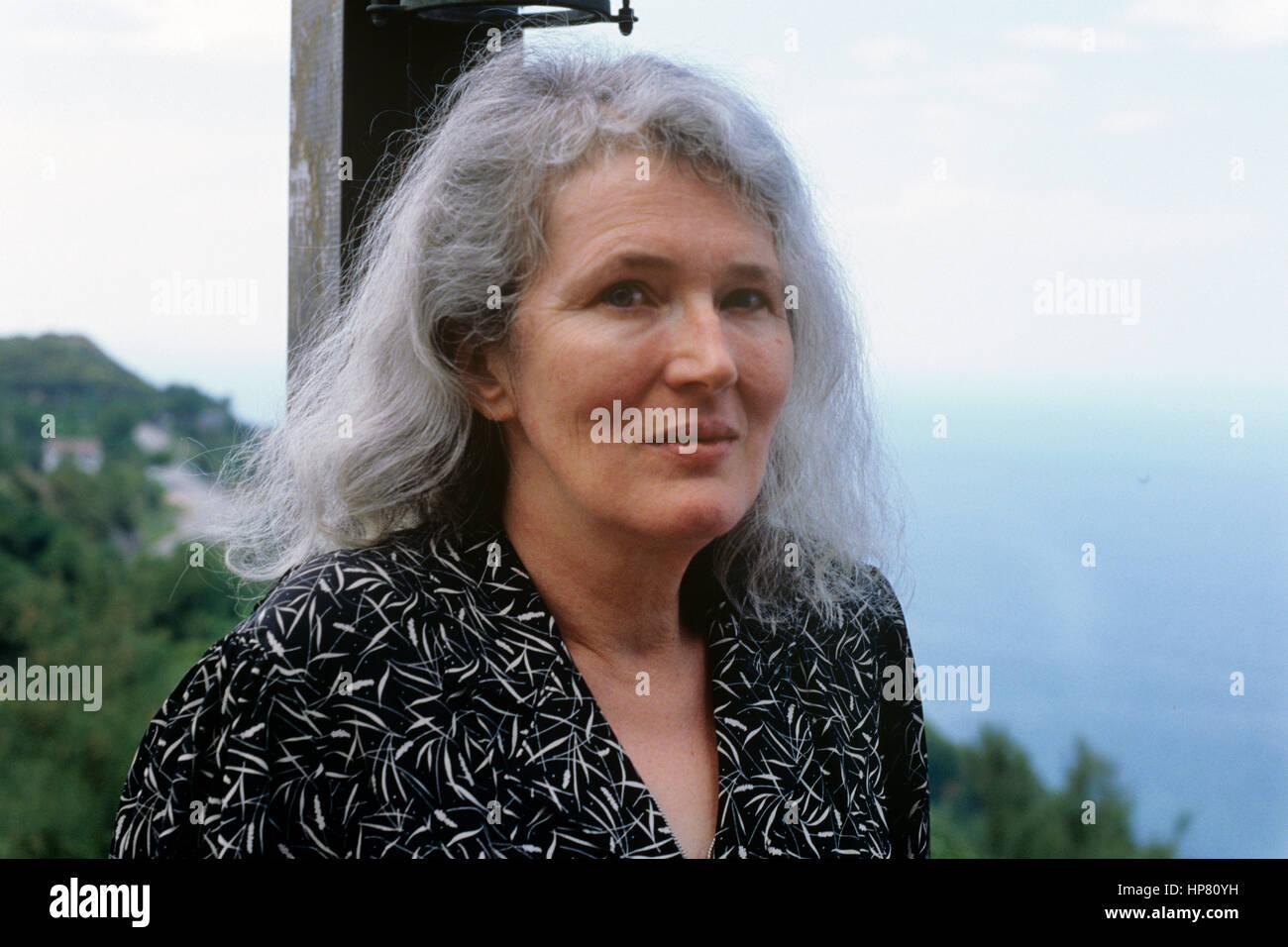 Portrait of Angela Carter 1988 ©Basso Cannarsa/Opale - Stock Image