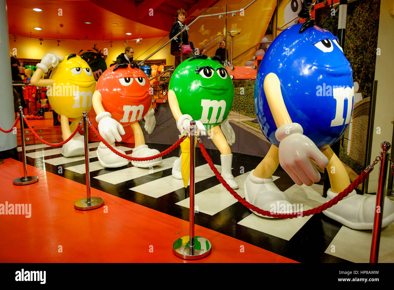 M&M World, Leicester Square, London, UK - Stock Image