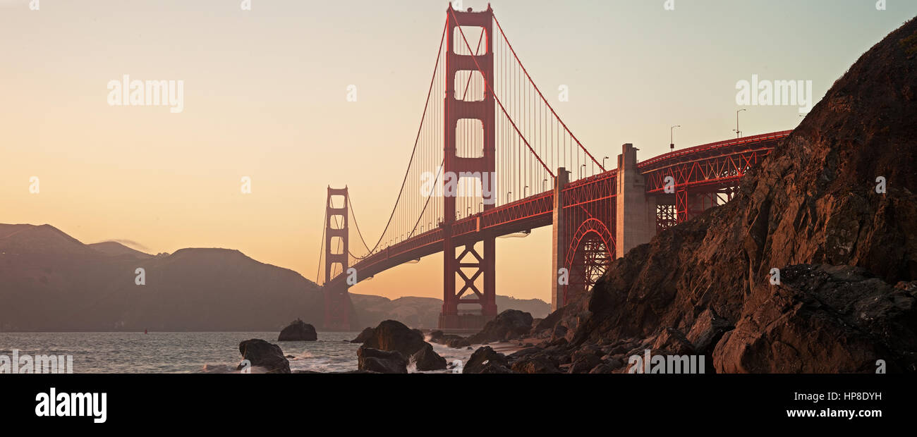 Golden Gate Bridge of San Francisco - Stock Image