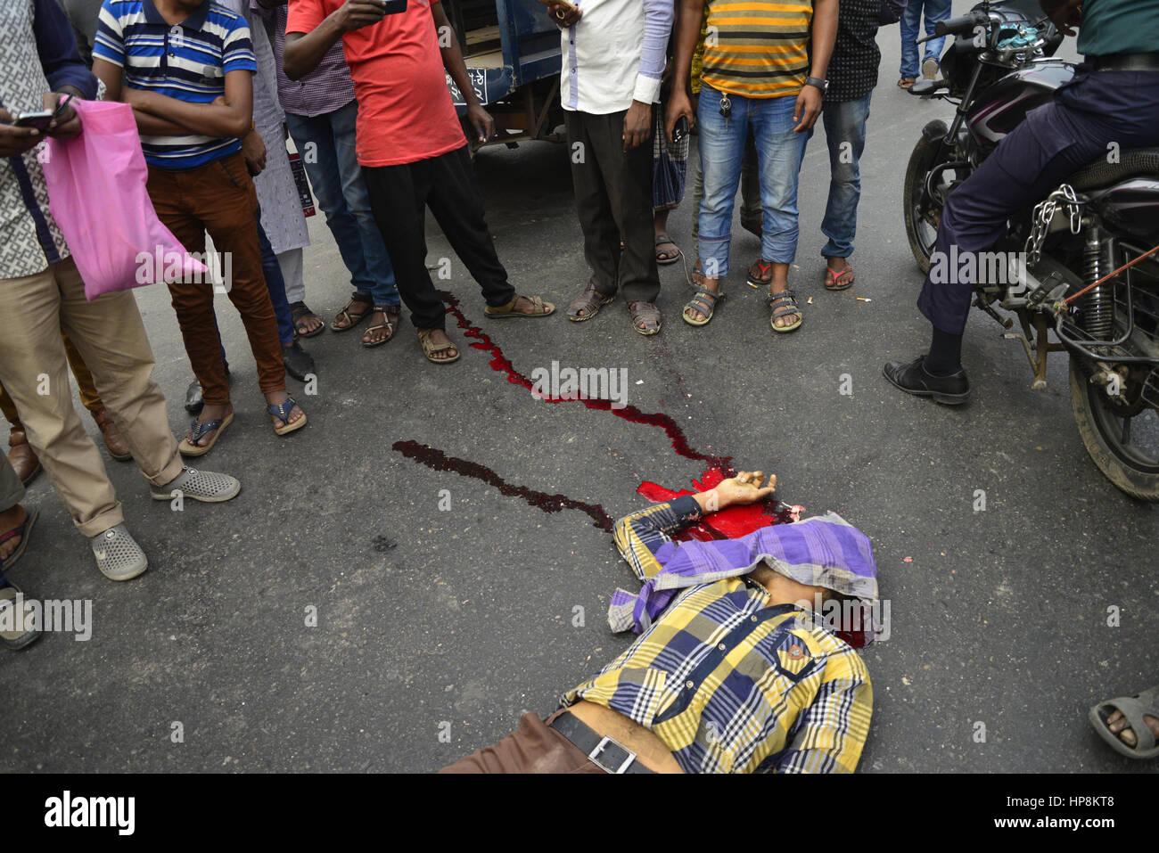 Dhaka, Bangladesh  19th Feb, 2017  Bangladeshi people