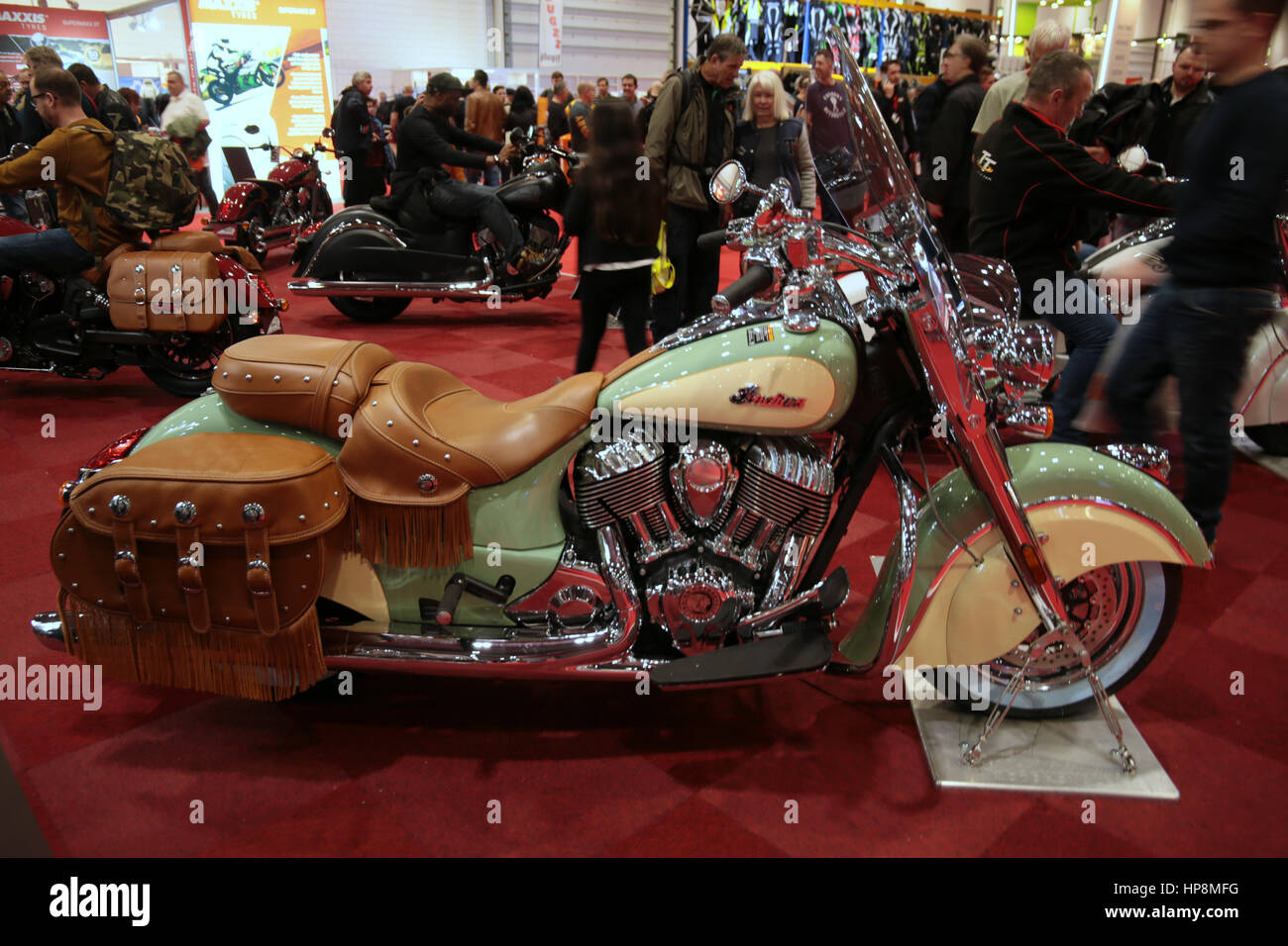 London, UK. 19th Feb, 2017. The Carole Nash MCN Motorcycle Show 2017 had 22 of the world's leading manufacturers - Stock Image