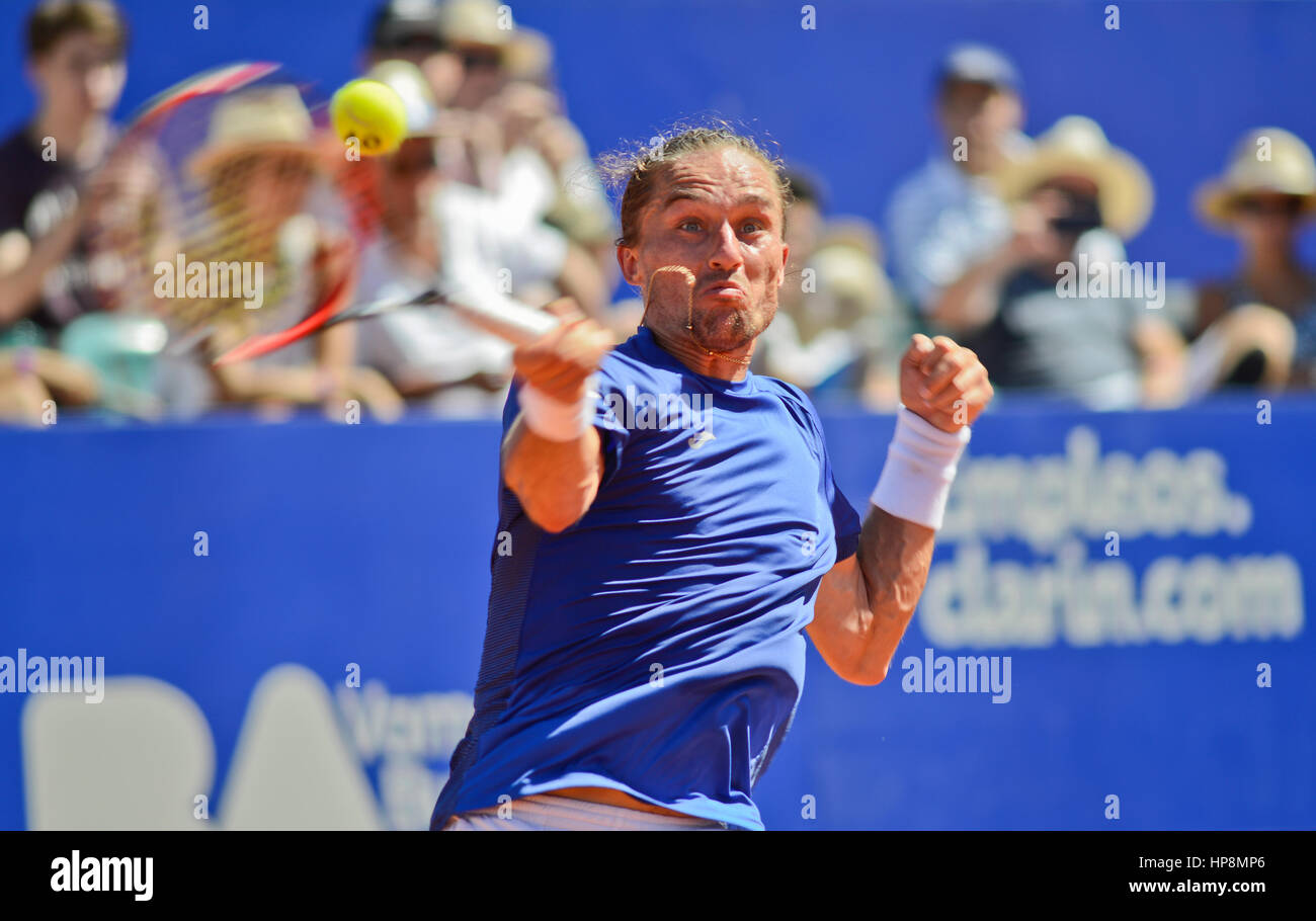 Alexandr Dolgopolov (Ukraine) wins the Argentina Open, held in Buenos Aires Lawn Tennis Club. Tennis ATP Tour - Stock Image