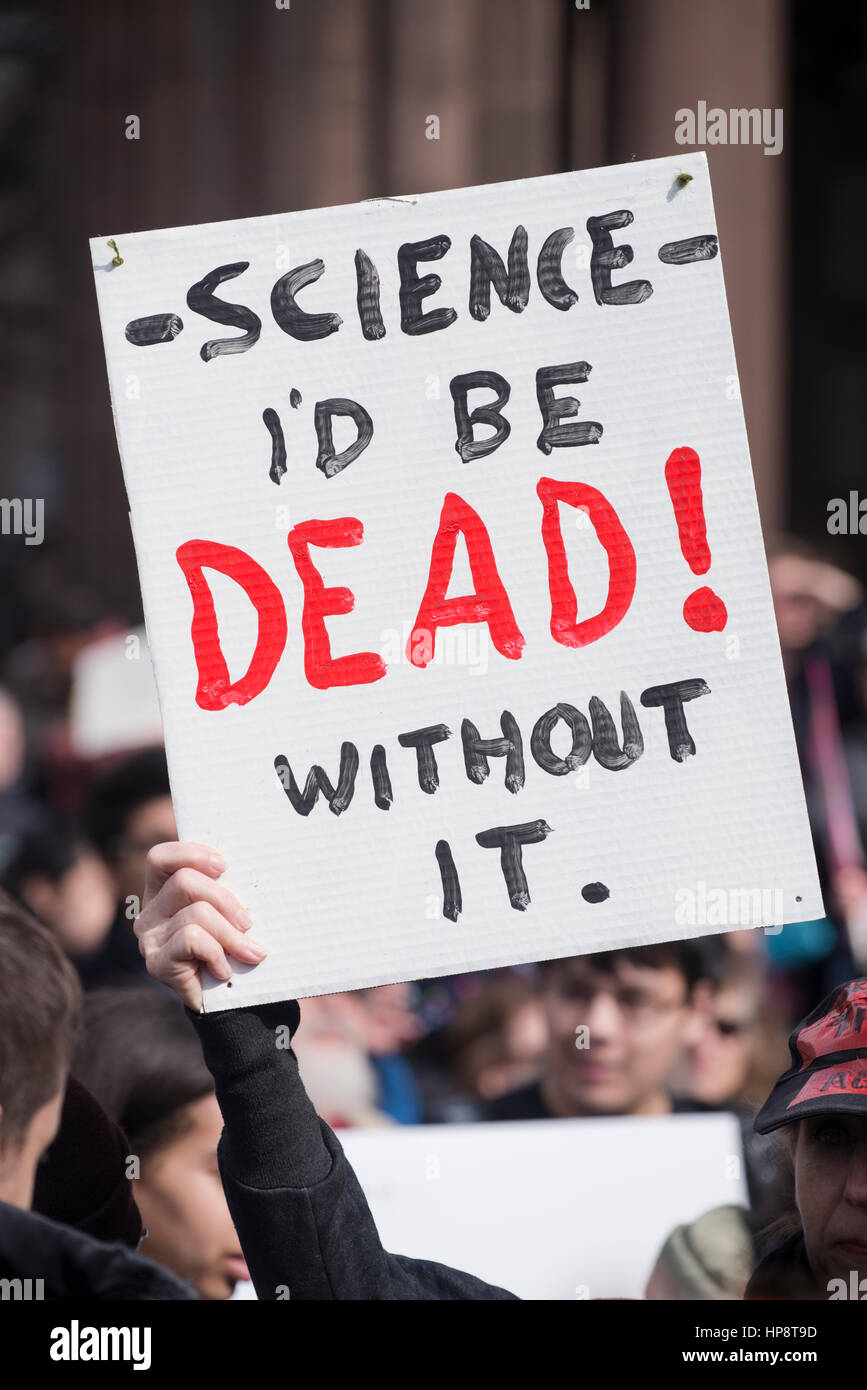 Boston, Massachusetts, USA. 19th February, 2017.  More than 1,000 scientists and science advocates gathered in Copley Stock Photo