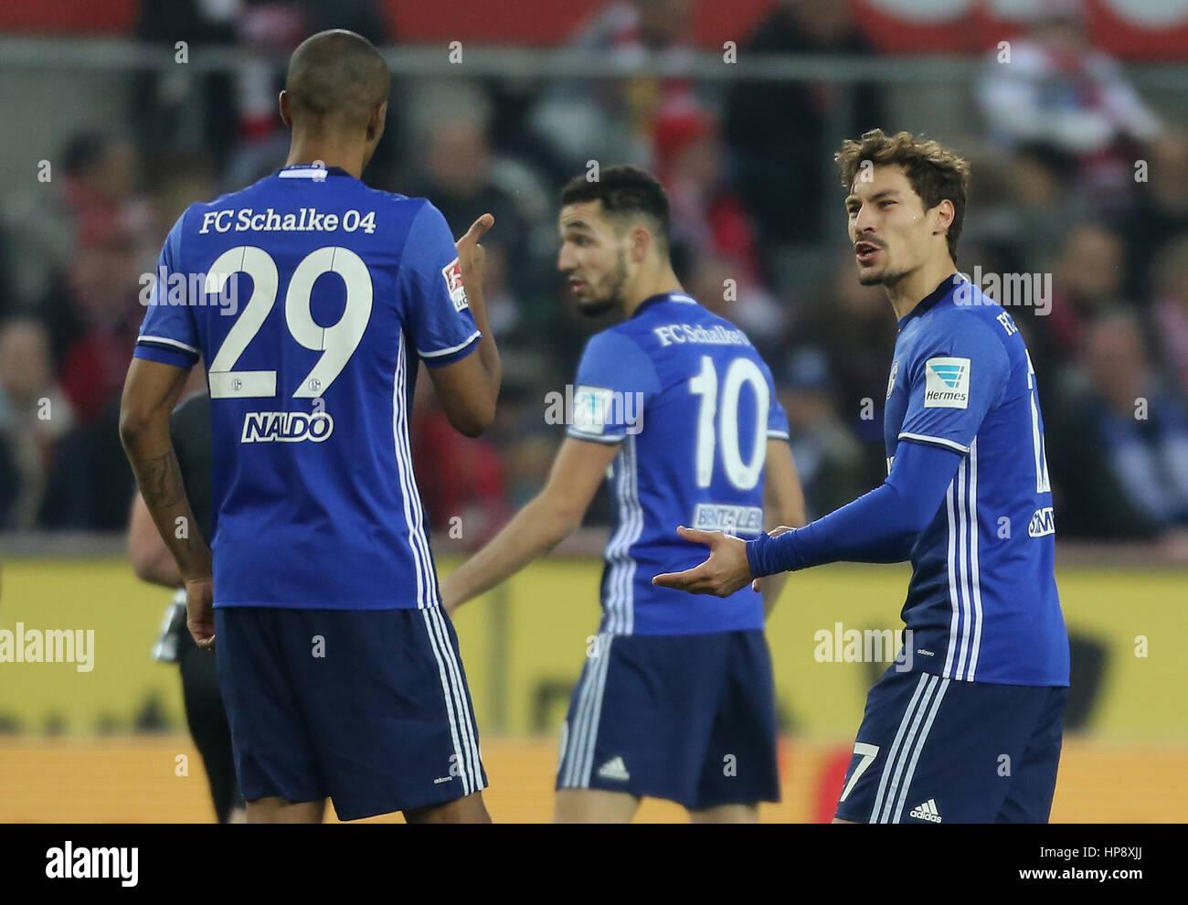 Cologne, Germany, February 19, 2017, Bundesliga matchday 21, 1. FC Koeln - FC Schalke 04:  Benjamin Stambouli (Schalke, - Stock Image