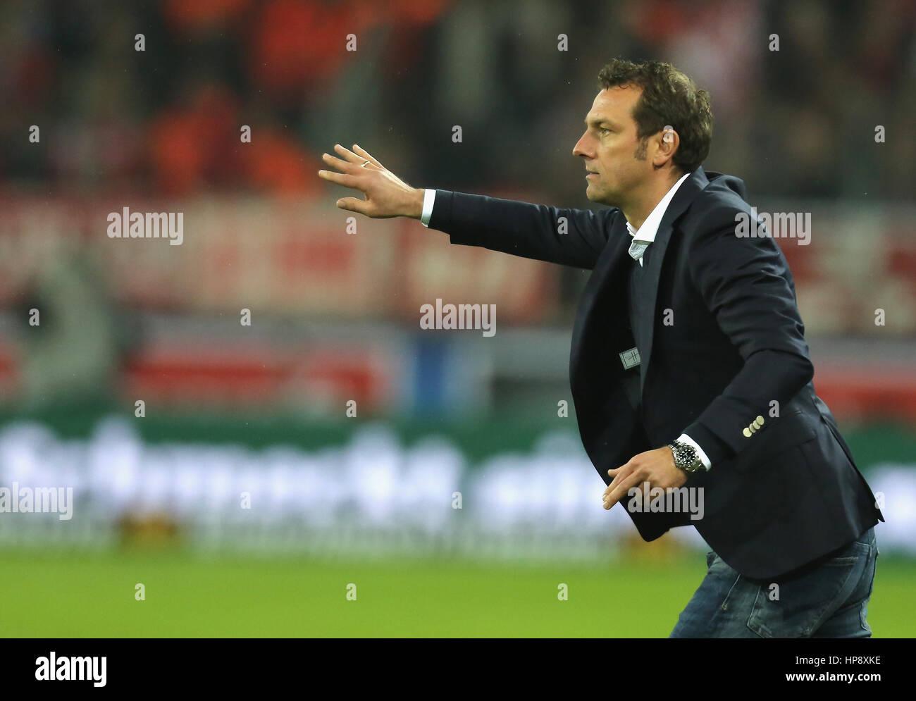 Cologne, Germany, February 19, 2017, Bundesliga matchday 21, 1. FC Koeln - FC Schalke 04:  Manager Markus Weinzierl - Stock Image