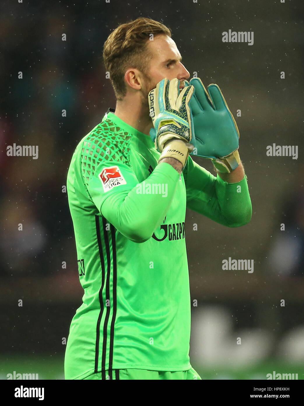 Cologne, Germany, February 19, 2017, Bundesliga matchday 21, 1. FC Koeln - FC Schalke 04:  Goalkeeper Ralf Faehrmann - Stock Image