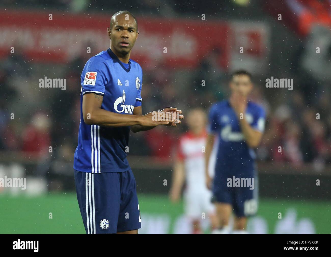 Cologne, Germany, February 19, 2017, Bundesliga matchday 21, 1. FC Koeln - FC Schalke 04:  Naldo (Schalke) steht - Stock Image
