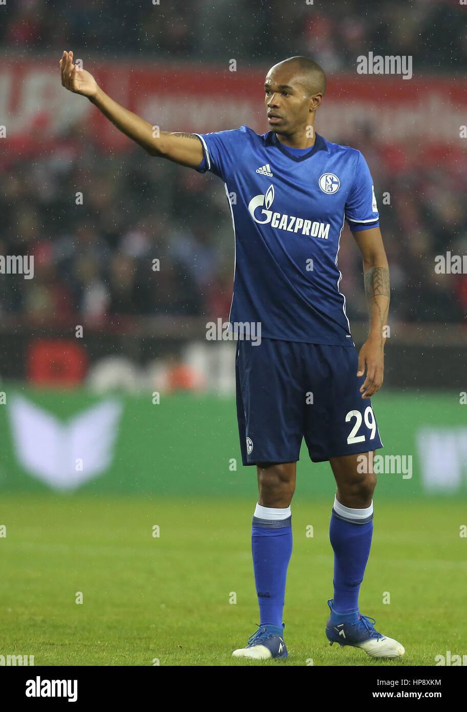 Cologne, Germany, February 19, 2017, Bundesliga matchday 21, 1. FC Koeln - FC Schalke 04:  Naldo (Schalke) gestures - Stock Image