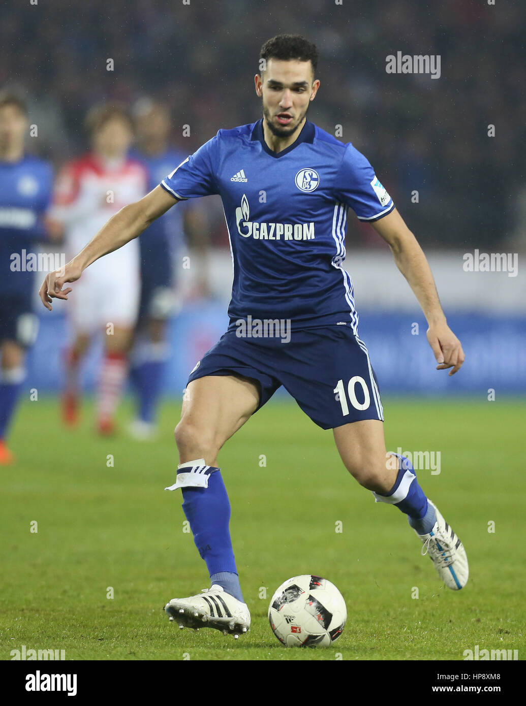 Cologne, Germany, February 19, 2017, Bundesliga matchday 21, 1. FC Koeln - FC Schalke 04:  Nabil Bentaleb (Schalke) - Stock Image