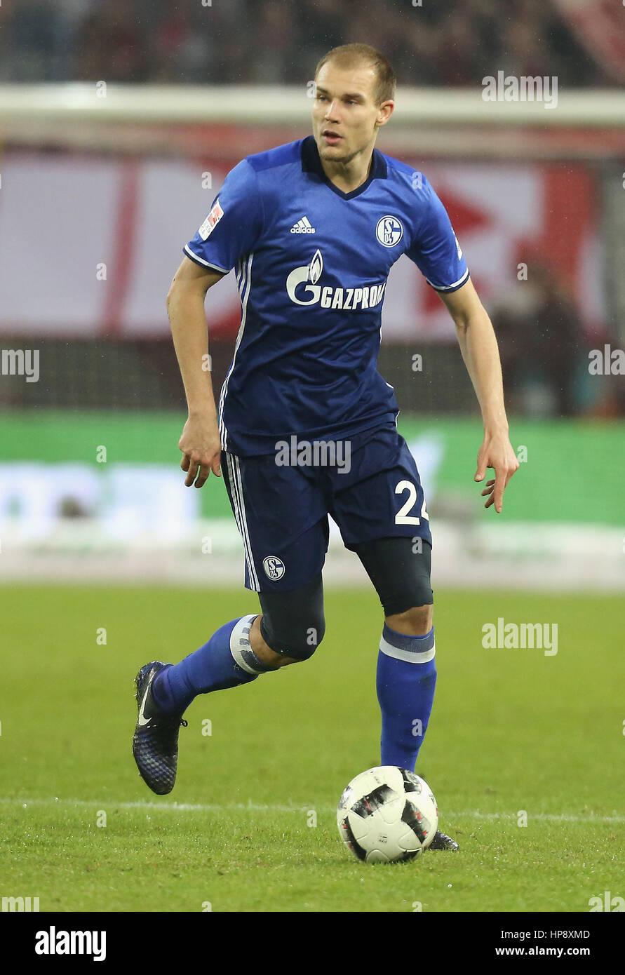 Cologne, Germany, February 19, 2017, Bundesliga matchday 21, 1. FC Koeln - FC Schalke 04:  Holger Badstuber (Schalke) - Stock Image