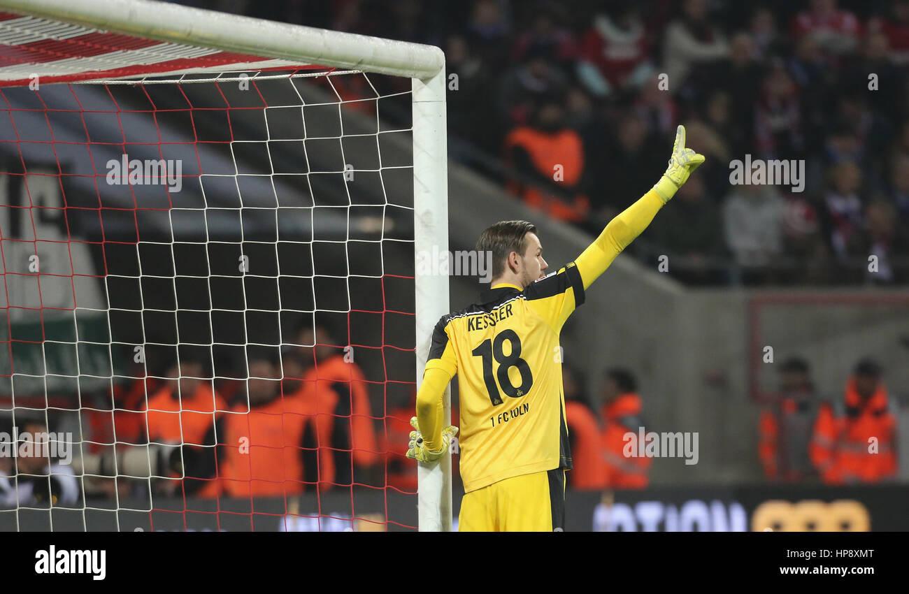 Cologne, Germany, February 19, 2017, Bundesliga matchday 21, 1. FC Koeln - FC Schalke 04:  Goalkeeper Thomas Kessler - Stock Image