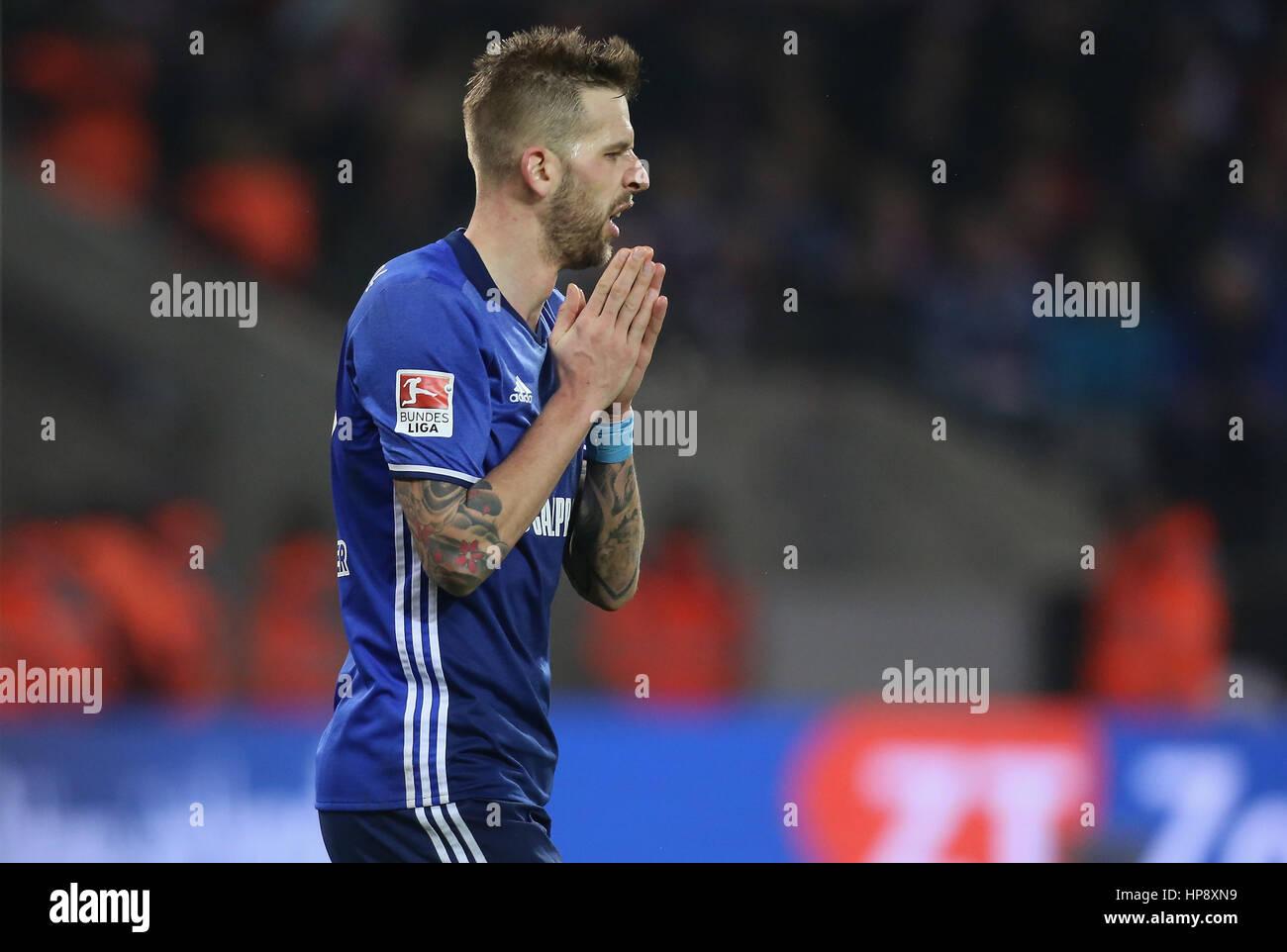Cologne, Germany, February 19, 2017, Bundesliga matchday 21, 1. FC Koeln - FC Schalke 04:  Guido Burgstaller (Schalke) - Stock Image