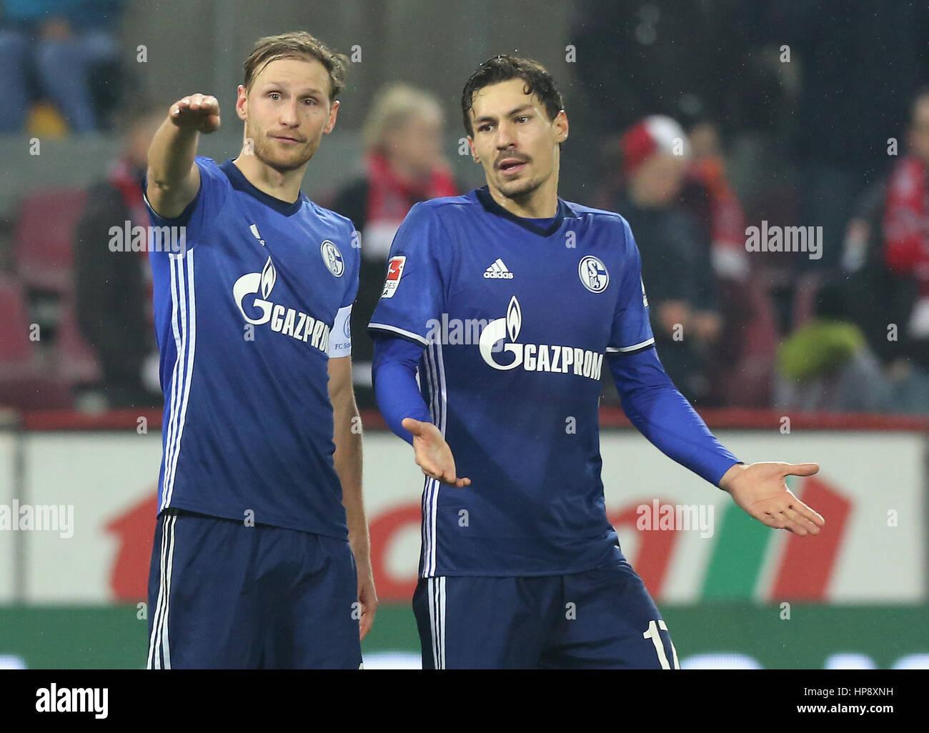 Cologne, Germany, February 19, 2017, Bundesliga matchday 21, 1. FC Koeln - FC Schalke 04:  Benedikt Hoewedes (Schalke, - Stock Image