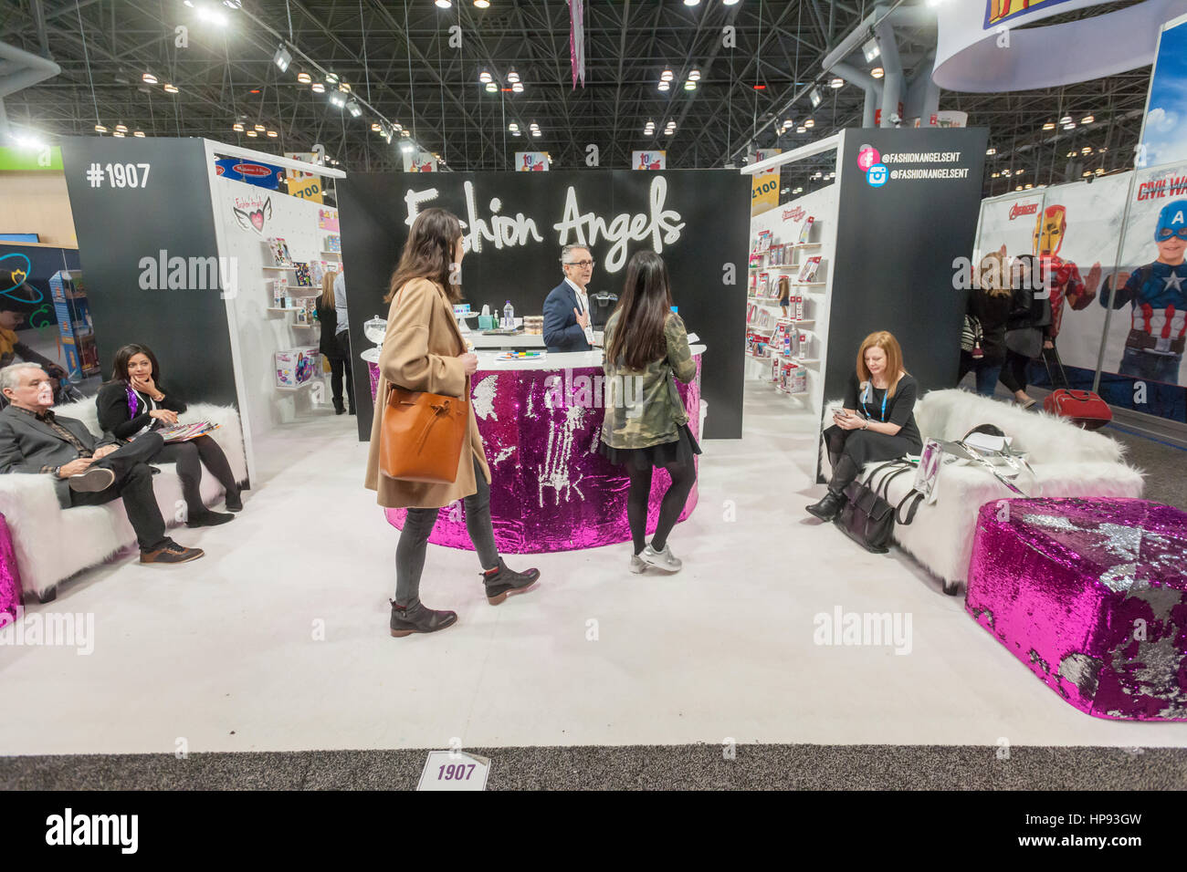 New York Usa 19th Feb 2017 Fashion Angels Booth At The 114th Stock Photo Alamy