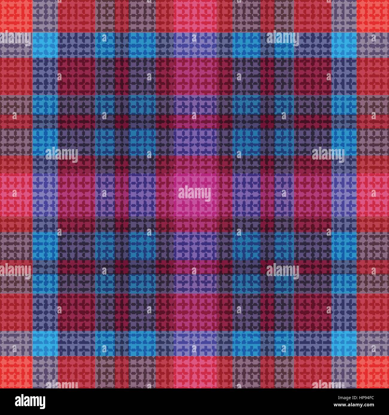 abstract vector tartan seamless - Stock Vector