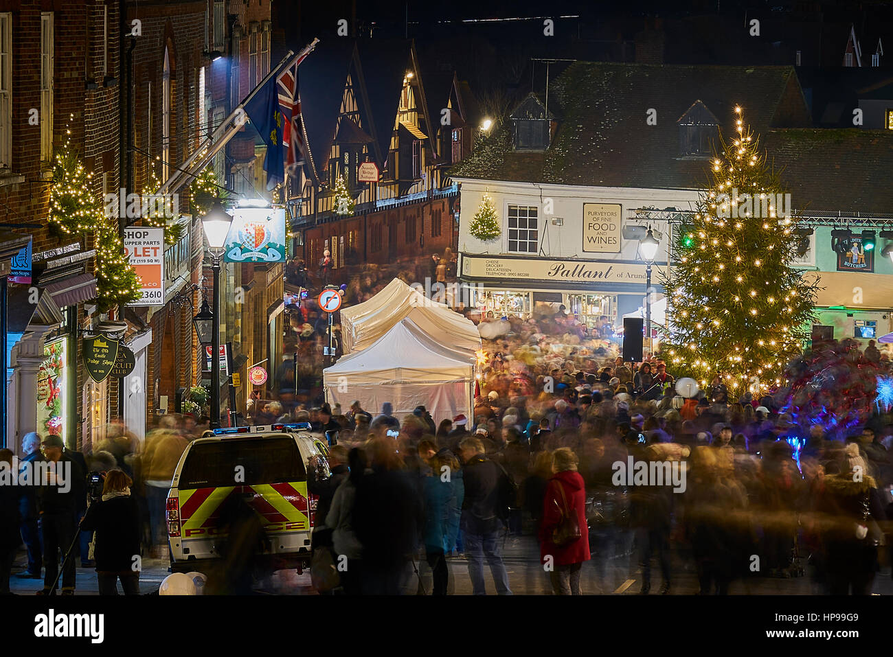 Christmas by Candlelight in Arundel Sussex - Stock Image