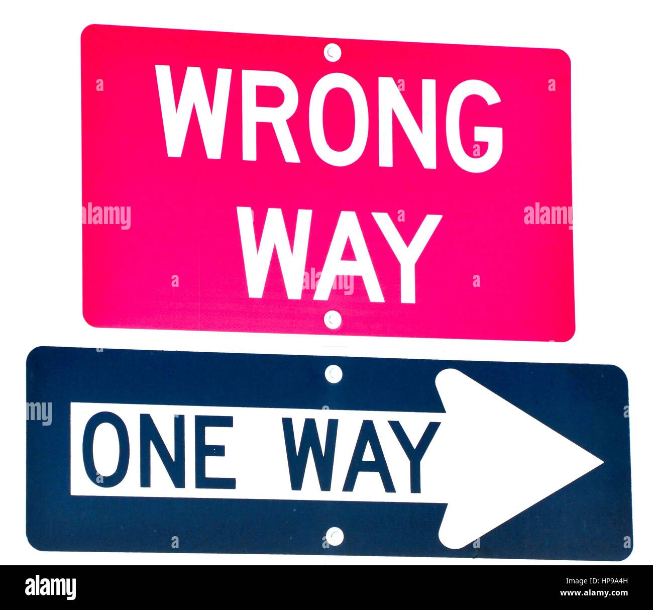 wrong way one way street sign stock photo 134200545 alamy