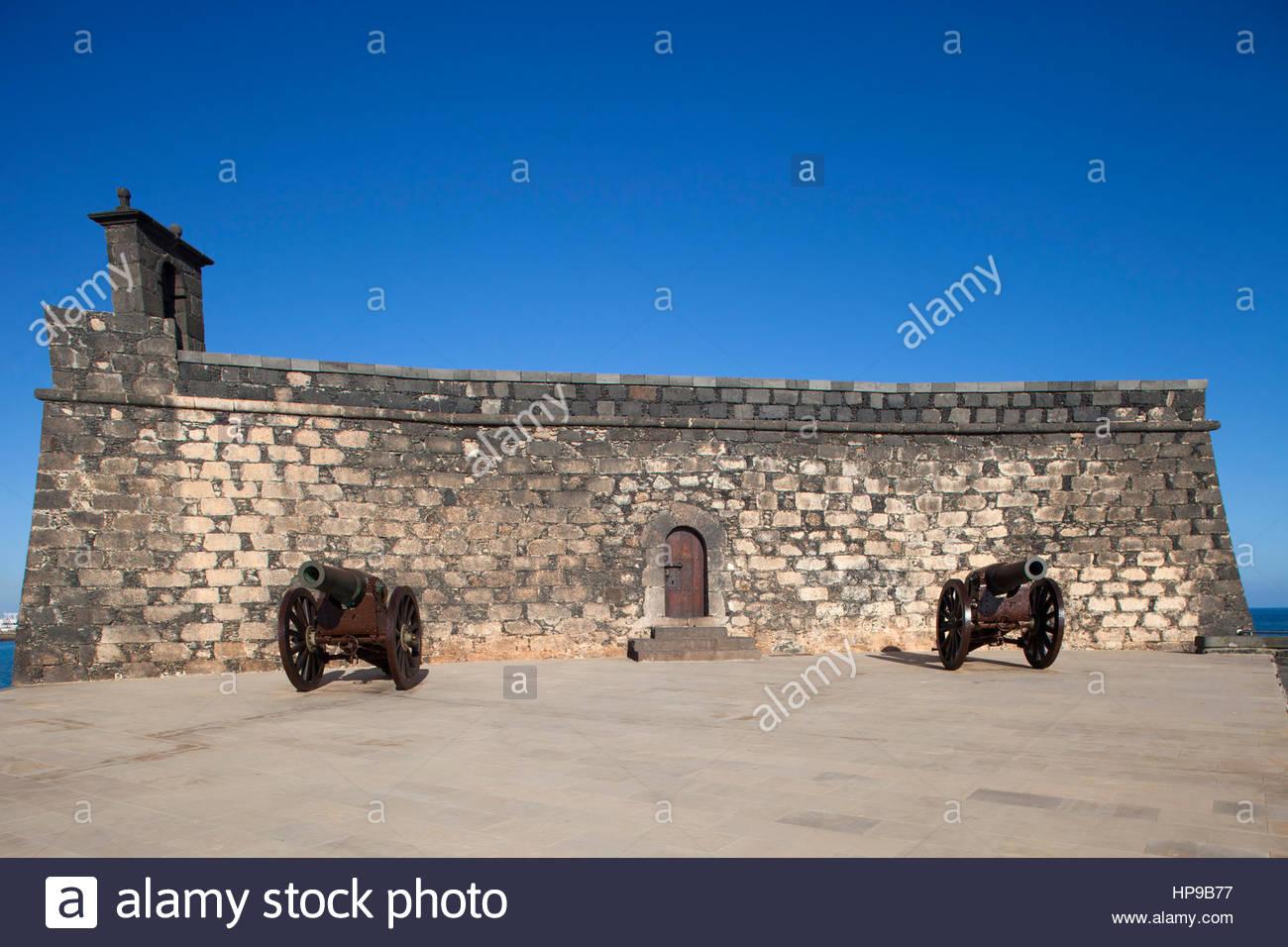 Castillo de San Gabriel now Museo de historia,promenade Arrecife town,Lanzarote,Canary,Spain Stock Photo