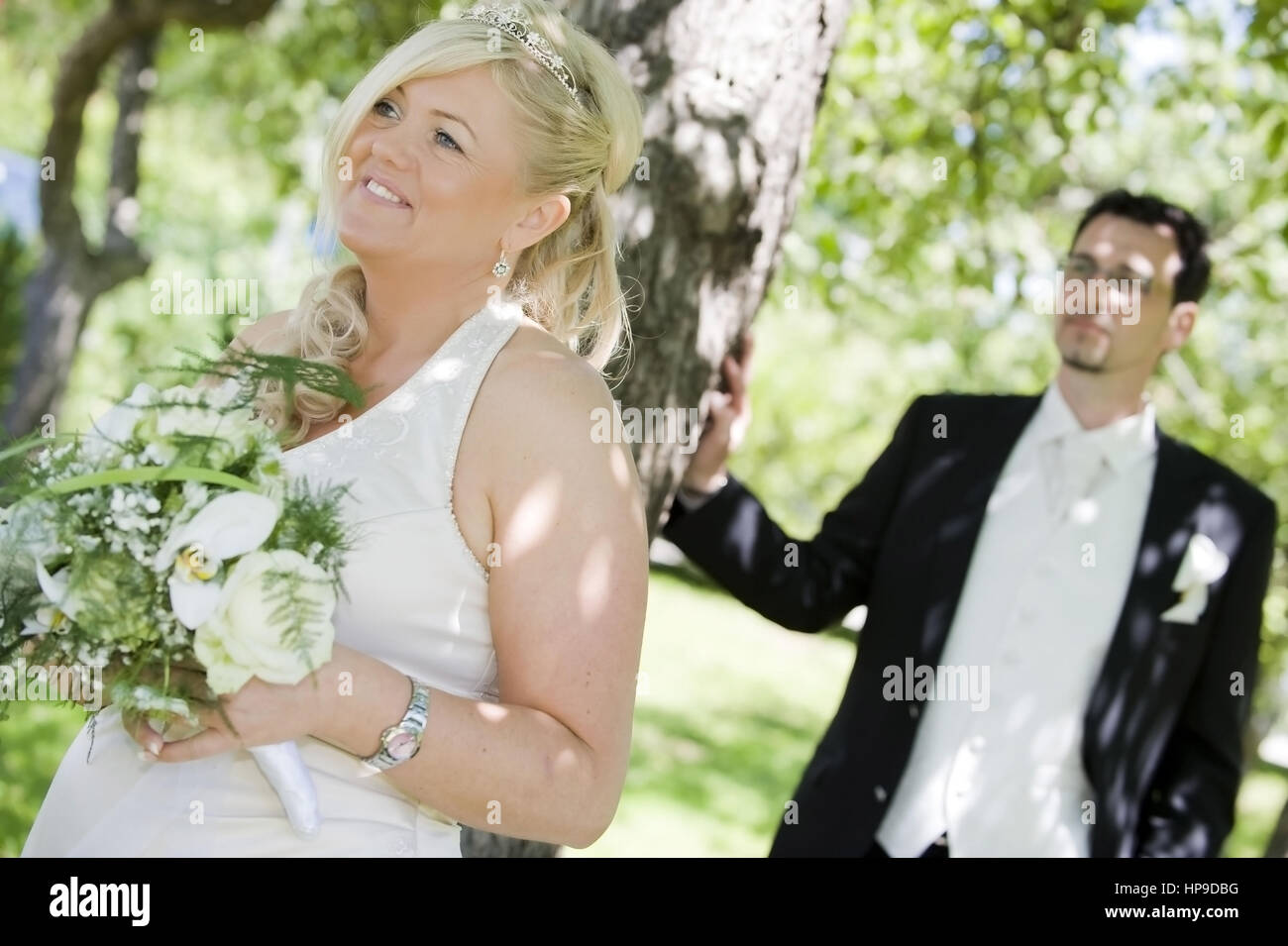 Model released , Brautpaar - marriage couple - Stock Image